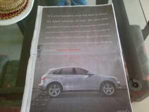 Audi full ad Pune TOI